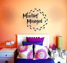 Mischief Managed Wall Decal Wall Vinyl Wall Decor by JeetVinyl