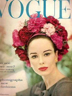 Sondra Peterson wearing a hat by Sally Victor, cover photo by Karen Radkai, March 1960 / Flickr