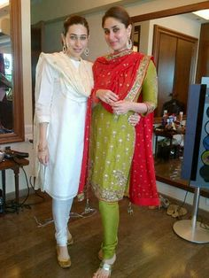 Kareena and Karisma http://bollywoodgaram.com/8277/saif-ali-khan-kareena-kapoor-wedding-photos/