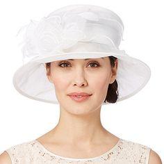 Hatbox Ivory twisted rose trim organza hat- | Debenhams