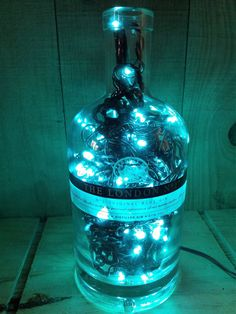 The London No.1 Gin bottle light filled with by MoonShineBottles