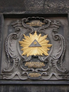 """The """"All Seeing Eye"""" on a Vatican/Romanist Temple - Illuminist/Illuminati Symbolism - If this place is supposed to be a place to worship the real Jesus the Christ, what's with all mystery religion symbols? Masonic Art, Masonic Lodge, Occult Symbols, Masonic Symbols, Religious Symbols, Illuminati Symbols, Aachen Cathedral, Le Vatican, Tree Of Life"""