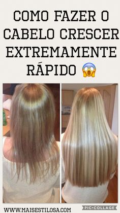 Como Fazer o Cabelo Crescer Extremamente Rápido 😱 Hair Skin Nails, Grow Hair, Hair Growing, Hair Photo, Beauty Recipe, My Hair, Cool Hairstyles, Shampoo, Hair Care
