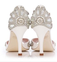 Emmy London is a celebration of luxury bridal shoes, occasion shoes and bridal accessories. Perfect for modern brides, wedding guests and big day events. Lolita Mode, Bridal Sandals, Ivory Sandals, Shoes Sandals, Bridal Fabric, Chic Vintage Brides, Vintage Style, Cinderella Shoes, Chanel