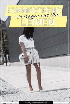 Summer Trend Alert: Linen and how we wear it now Julie's Dresscode Fashion … – Top Trends Fashion Weeks, Only Fashion, World Of Fashion, White Tshirt Outfit, Mode Blog, German Fashion, Cooler Look, We Wear, How To Wear