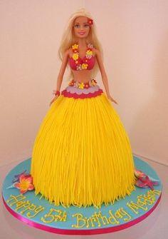 Tropical / luau cake
