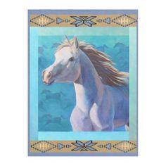 Ghost Dancing by Kathy Morrow Fleece Blanket - horse animal horses riding freedom