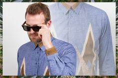 Lookbook Spring 2014 - SWORDS-SMITH Menswear: Saint Paul Marquetry Shirt Shwood Haystack Select Sunglasses