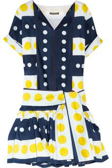 Easton Pearson - Seeing Spots printed cotton dress Best Wear, Discount Designer Clothes, Fashion Fabric, Fashion Plates, Clothes For Sale, Cotton Dresses, Printed Cotton, Dress To Impress, Short Sleeve Dresses