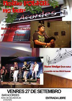 Noite Folkie: Rubén Prieto + Hora Meiga @ Café Acordes - A Valenzá - Barbadás (Ourense) música concierto concerto folk