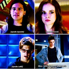 "#TheFlash 1x11 ""The Sound and the Fury"" Cisco, Caitlin, Hartley and Barry"
