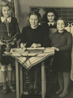 11 year old Anne Frank at the Montessori school in 1940.