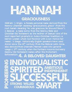 HANNAH Personalized Name Print / Typography Print / by OhBabyNames