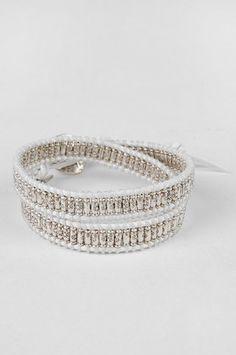 M. Cohen Double Wrap Sterling Silver Macrame Bracelet  $90 at www.tobi.com