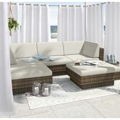 For a crisp, clean Island-white panel, look no further than the Outdoor Decor Forever Grommet Top Outdoor Drape Panel . The solid white look. Outdoor Drapes, Indoor Outdoor, Outdoor Decor, Furniture Covers, Outdoor Furniture Sets, Furniture Ideas, Patio Store, Living Room Drapes, Custom Drapes