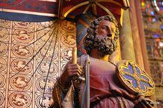 La Sainte-Chapelle - Statue de la Chapelle haute