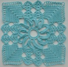 Lacy square motif ~ pattern available via Ravelry