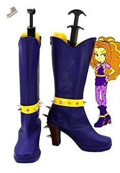 My Little Pony Equestria Girls Rainbow Rocks Adagio Dazzle Cosplay Shoes Boots Custom Made - Telacos sneakers for women (*Amazon Partner-Link)