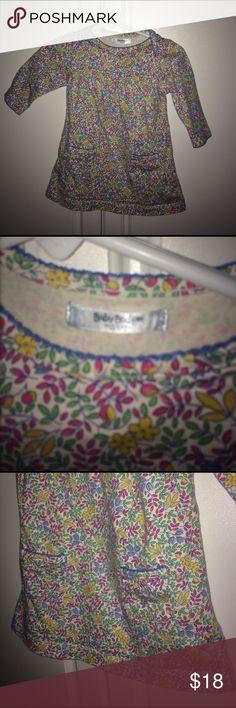 Baby Boden Floral Dress 3-6 months Baby Boden Floral Dress 3-6 months. Front pockets. Envelope shoulders. EUC Mini Boden Dresses Casual