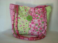 Repurposed fabric sample purse