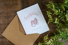 Baby Congratulations Card Baby Greeting Card for by DePapelStudio