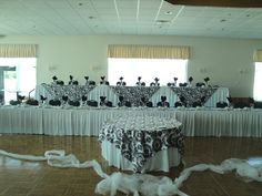 Damask overlay for head table