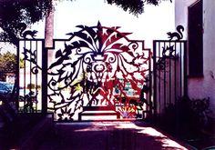 Earth Iron - Artistic Cut Steel Artistic Iron Work Driveway Gate Artworks Los Angeles, California