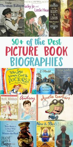 Here are 50+ of the best picture book biographies, great for teaching living history/history without a textbook.