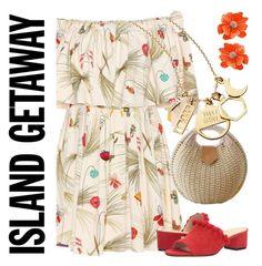 """Island Trip"" by petalp ❤ liked on Polyvore featuring Fendi, Raye, Kenneth Jay Lane, men's fashion, menswear and dress"