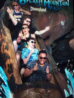 Cube goes on Splash Mountain