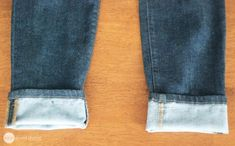 How To Shorten Your Jeans But Keep Their Store-Bought Look! · One Good Thing by JilleePinterestFacebookPinterestFacebookPrintFriendly