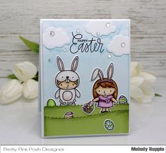A Paper Melody: Easter Friends Stamp Set Sale! Posh Products, Pretty Pink Posh, Easter Card, Handmade Cards, Card Ideas, Stamp, Create, Friends, Paper