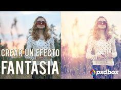 ▶ Paso a Paso - Crea efectos de luz y fantasia en tus fotos - YouTube