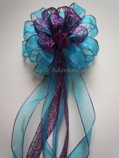 Hey, I found this really awesome Etsy listing at https://www.etsy.com/listing/207528395/purple-blue-christmas-bow-christmas
