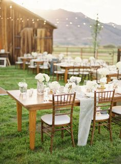 barn weddings are my favorite<3 i like having the eating area outside so that the kids can be kids and run around so the adults dont have to keep them entertained :]