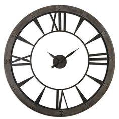 Ronan Rustic Bronze Large Wall Clock