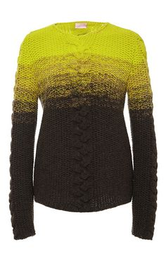 Long Sleeved Ombré Knit Top by Giamba Now Available on Moda Operandi