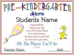 End of the year certificates and diplomas | Kindergarten, As and ...