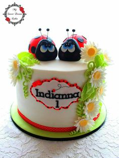 Ladybird themed cake by My Sweet Dream Cakes San Antonio, Frosting, Icing, Ladybug Cakes, Pastry Art, Dream Cake, Baby Shower Cakes, Themed Cakes, Cake Cookies