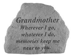 Kay Berry- Inc. 16620 Grandmother Wherever I Go-Whatever I Do - Memorial - 6.5 Inches x 4.75 Inches *** Awesome product. Click the image : Garden statues