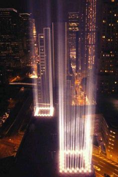 Incredible pic! Memorial to 9/11 & twin towers. God Bless America