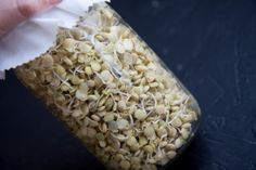 How to sprout lentils...works great with this recipe: http://www.epicurious.com/recipes/food/views/Brown-Rice-Salad-with-Crunchy-Sprouts-and-Seeds-395931