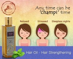 Is it not heavenly when your mother massages your hair? Hit like if you enjoy a hair champi! Biobloom's hair strengthening oil is perfect for a champi.