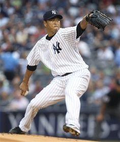 GAME 116: Tuesday, Aug. 14, 2012 - New York Yankees' Hiroki Kuroda pitches during the first inning of the baseball game against the Texas Rangers at Yankee Stadium in New York.