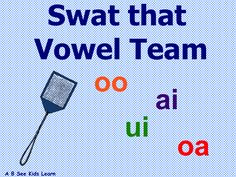Vowel Teams ai oa ui oo SMART Notebook Game - Use a fly swatter to identify words containing vowel teams - Phonics - Spelling - 1st Grade - #TpT #abseekidslearn