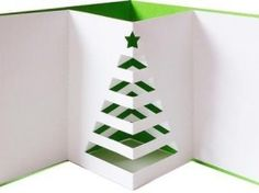 Pop out christmas tree card SVG DXF PDF files on Craftsuprint designed by Alaa Kay - Included card cut and the mat