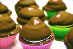 Cupcakes med flødebolletopping