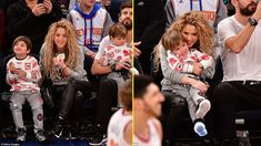 That's a cute family! Shakira and Gerard Piqué sit front row with sons f...