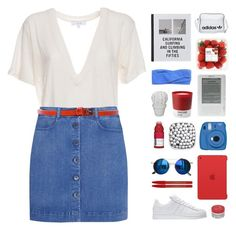 """R+W+B"" by via-m ❤ liked on Polyvore featuring Apple, Pantone, Fujifilm, IRO, Chicnova Fashion, Prism, STELLA McCARTNEY, adidas Originals, Maybelline and Korres"