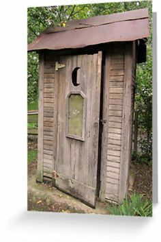 Old Antique Country Outhouse Bathroom